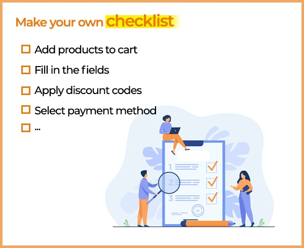 checkout page checklist for WooCommerce recover abandoned cart
