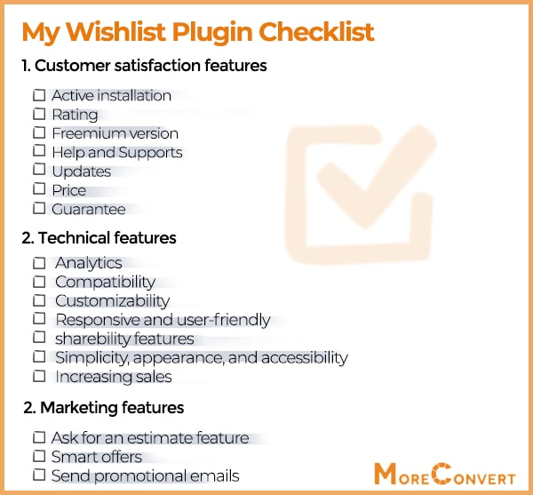 exclusive checklist for choosing wishlist